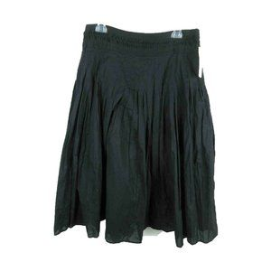 I.E. NEW 100% Cotton Side Zip Solid Pleated Skirt
